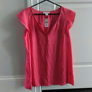 Maternity Bright Pink Flutter Sleeve NWT
